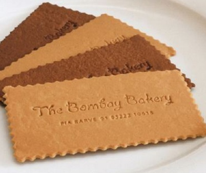 The Bombay Bakery Biscuit Business Card
