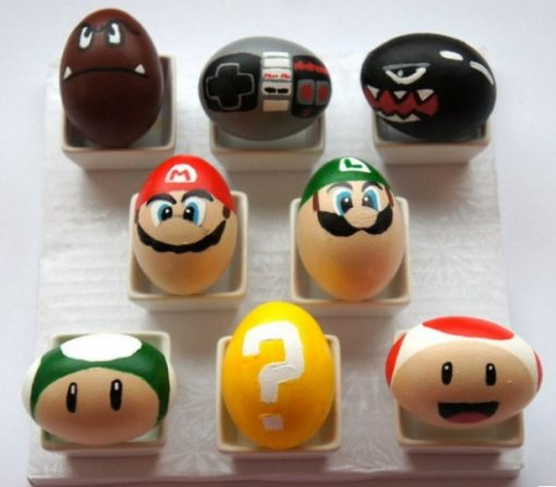 Super Mario World Painted Easter Eggs