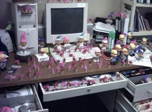 Office filled with trolls