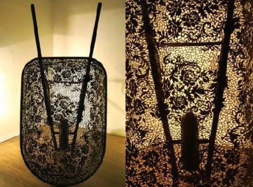 Wheelbarrow turned into a work of Art
