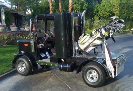 haulage truck inspired golf cart
