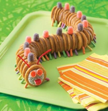 Creepy Crawler Caterpillar Made From Ritz Salty Crackers
