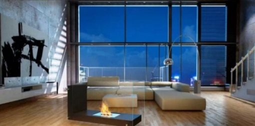 Attika Feuer Glass Showcase Fireplace