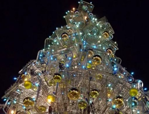 Shopping Trolley Christmas tree