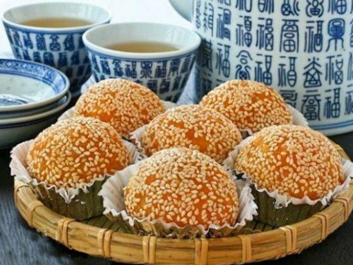 Deep Fried Glutinous Rice Balls