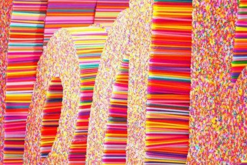 Drinking Straws turned into art