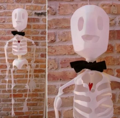 Skeleton Made With Empty Plastic Milk Bottles