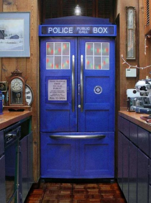 Tardis Fridge Sticker Kit