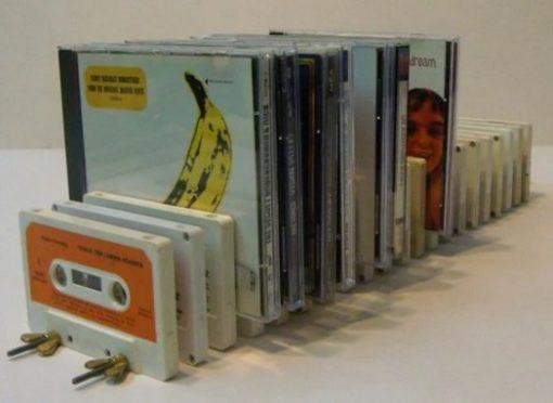 CD Holder Made From Cassette Tapes