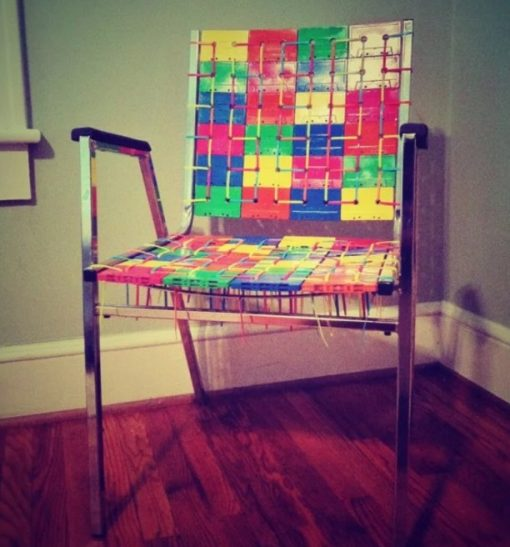 Deck Chair Made From Cassette Tapes