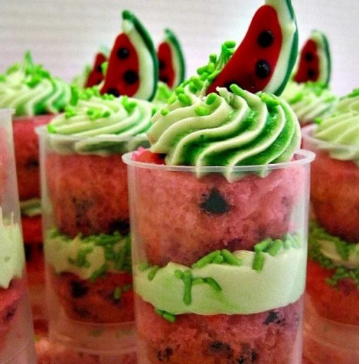 Watermelon Cupcake Push Up Pops
