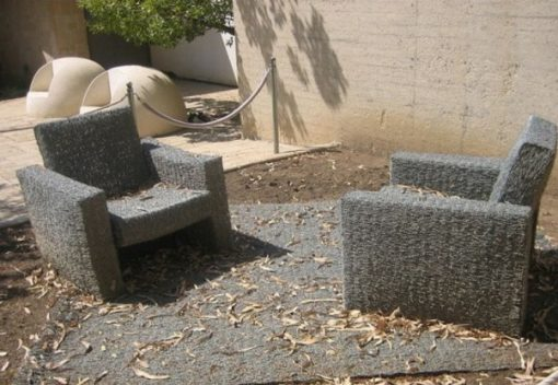 Garden Furniture made from Barbed Wire