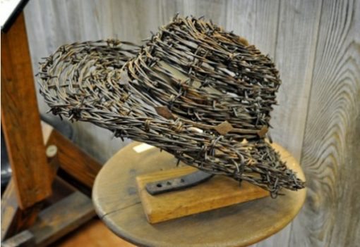 Hat made from Barbed Wire