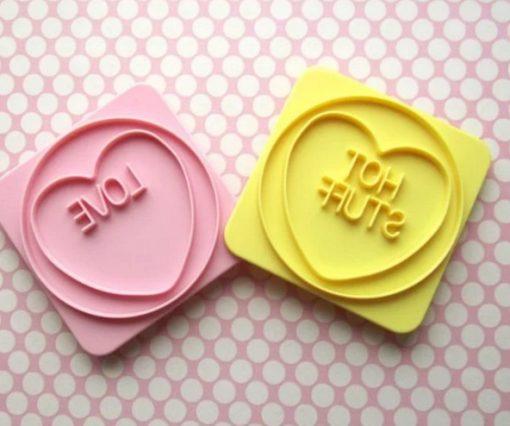 Love Hearts Toast Stamper Set