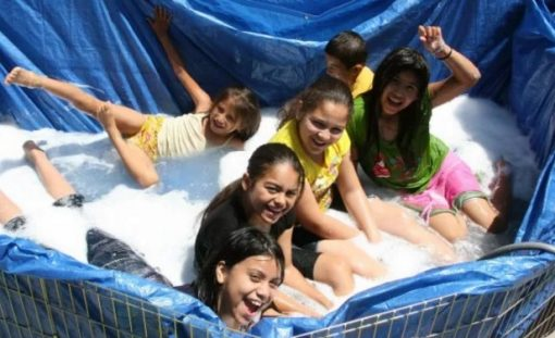 Swimming Pool Made With a Waterproof Sheet and Chicken Wire