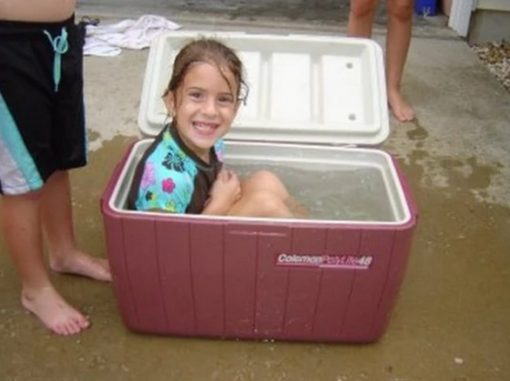 Swimming Pool Made With a Cooler Box