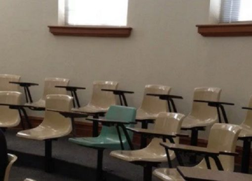 OCD test: one chair is the wrong colour