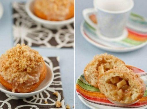 Apple Filled Crumb Doughnuts