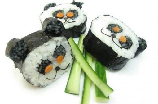 Panda Inspired sushi art