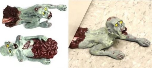A door stop that looks like a Zombie
