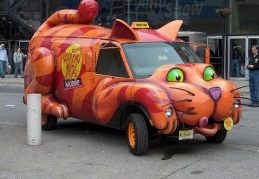 Meow Mix cat inspired van