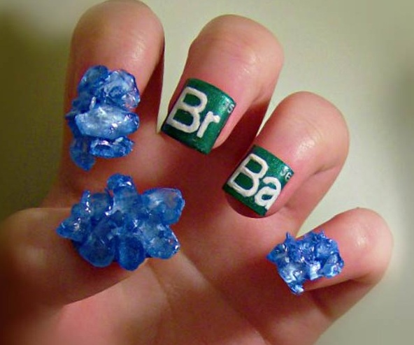 Top 10 nerdy and unusual nail art prinsesfo Image collections