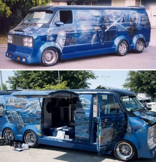 Star Wars-themed Modified Van