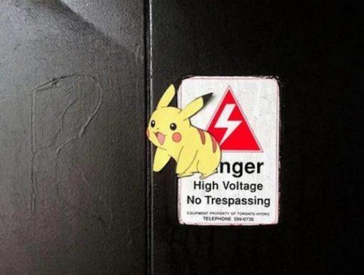 Pikachu inspired street art by Aiden Glynn