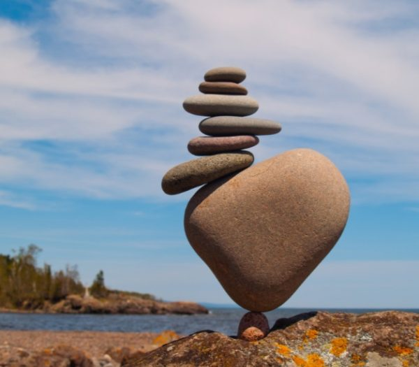 Stacked Rocks Made into Art