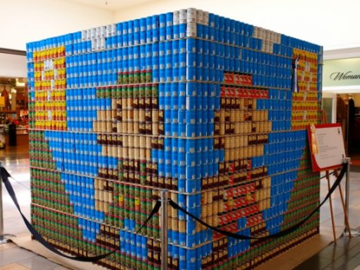 Stacked Cans Made in Art