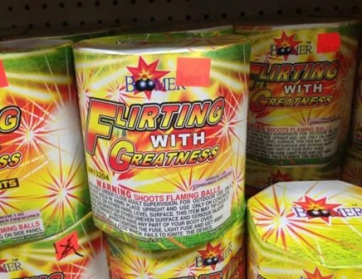 The Flirting With Greatness Firework