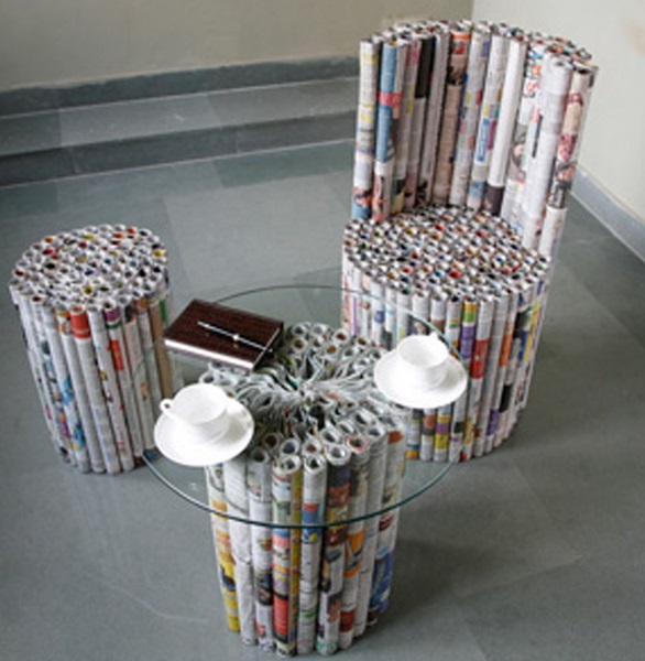 Top 10 things to do with old newspapers for Cool things to make out of recycled materials