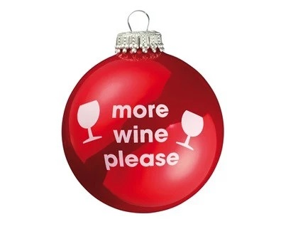 Wine Inspired Christmas Tree Bauble