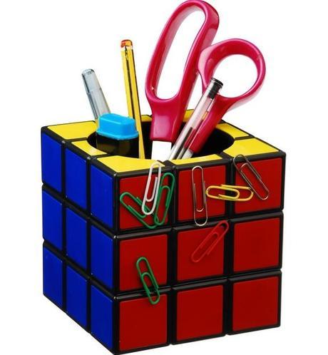 Rubik's Cube Inspired Desk Tidy