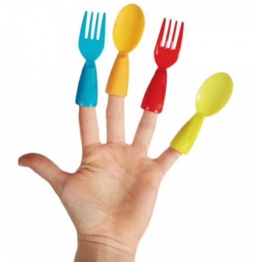 Turn Fingers Into Eating Utensils