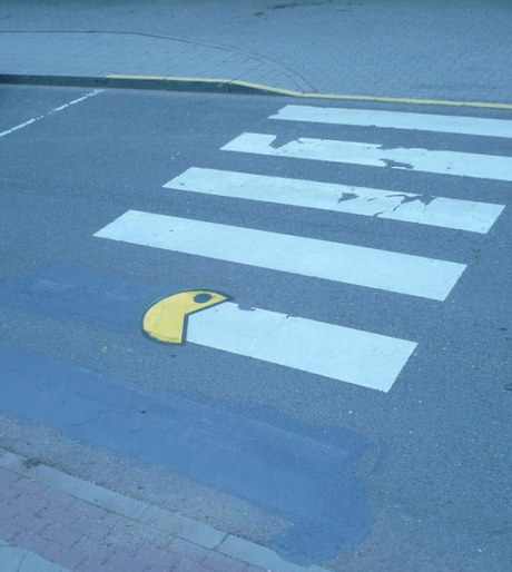Pac-man Inspired Street Art