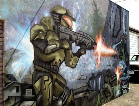 HALO Inspired Street Art