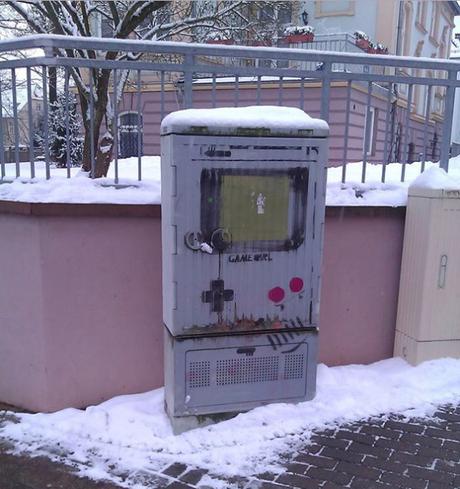Gameboy Inspired Street Art