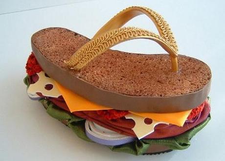 Sandwich Inspired Flip Flops