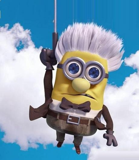 Minions Redesigned as Carl Fredricksen from UP