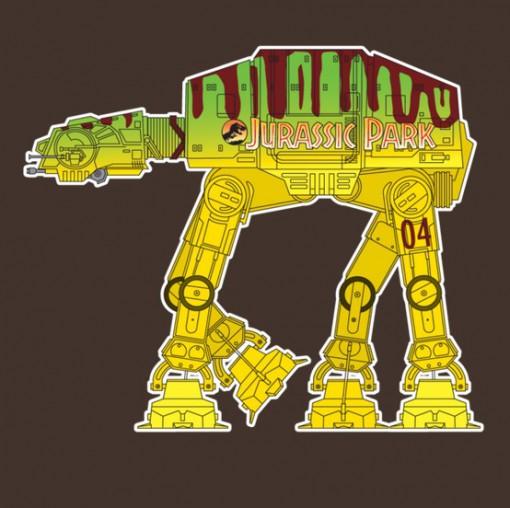Jurassic Park Themed AT-AT StarWars: Walker