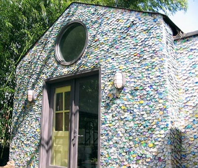 Top 10 homes built from recycled materials for House made by waste material
