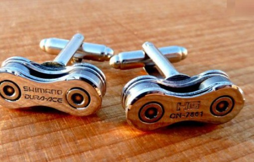 Bicycle Chain Cuff Links
