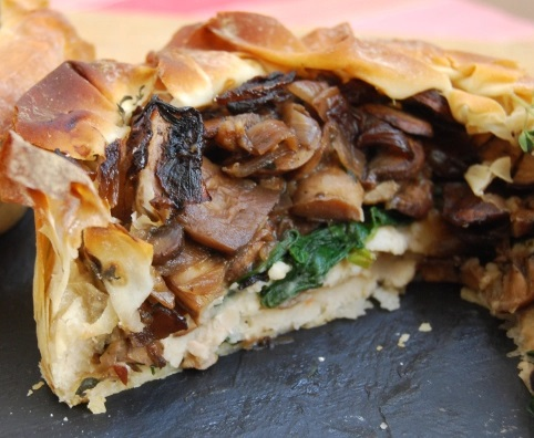 Mushroom and Cannellini Bean Easter Pie