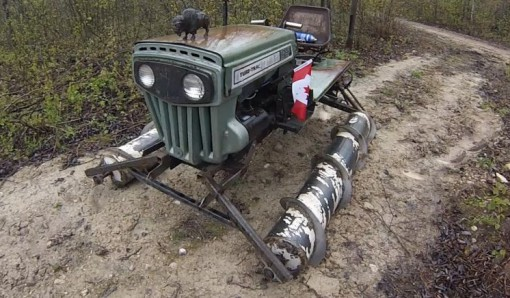 Tractor Transformed Snowmobile