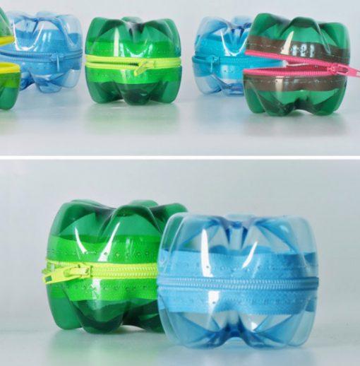 Empty Plastic Pop Bottle Transformed Into a Change Purse