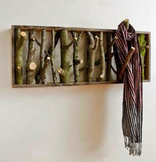 Twigs and Branches Transformed Into a Coat Hanger