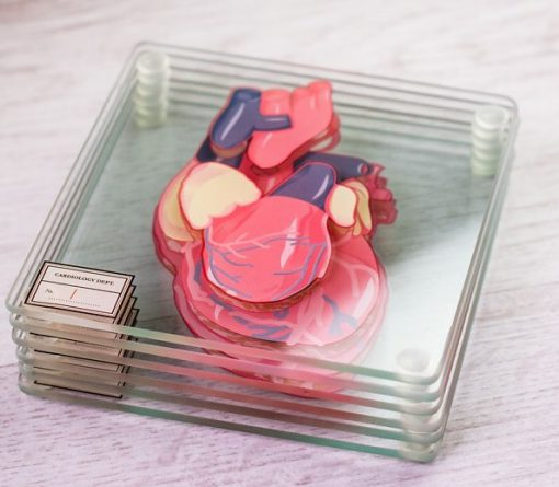 Heart Anatomy Drink Coasters