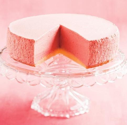 Strawberry Bavarian Mousse Cake