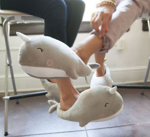 Novelty Narwhal Slippers